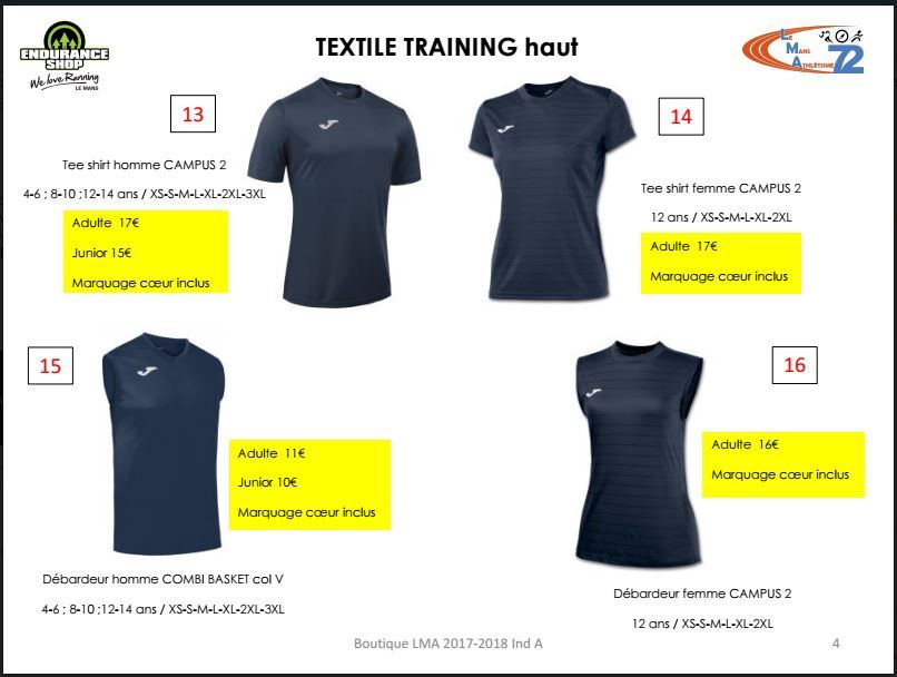 Textile Training haut